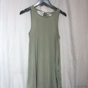 Army Green Sundress, tank top style, open back